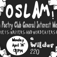 Slam Poetry Club General Interest Meeting - Oberlin College