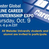 Webster University's Global Online Career and Internship Expo