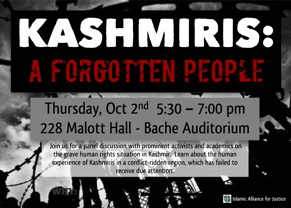 """Kashmiris: A Forgotten People"", Panel Discussion and Q&A"