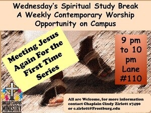 Spiritual Study Break - Contemporary Worship On Campus