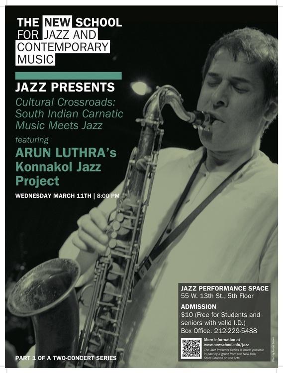Jazz Presents   Cultural Crossroads: South Indian Carnatic Music Meets Jazz   Arun Luthra's Konnakol Jazz Project