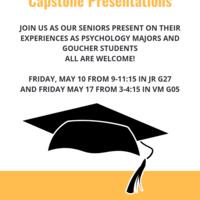 Psychology Senior Capstone Presentations