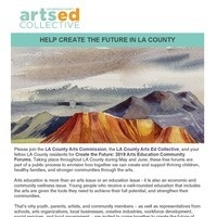Create the Future: 2019 Arts Education Community Forums