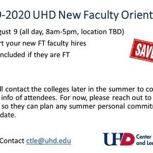 AY 2019-2020 New Faculty Orientation