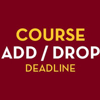 One-time Drop Deadline for Fall Semester