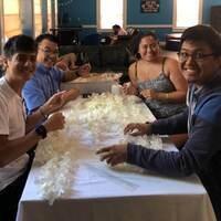 Founders' Week Lei Making