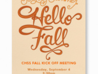 CHSS Faculty & Staff Fall Meeting