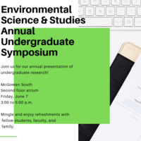Environmental Science and Studies annual Undergraduate Symposium