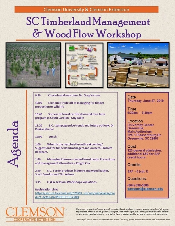 SC Timberland Managment & Wood Flow Workshop