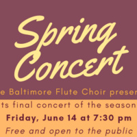 Baltimore Flute Choir Spring Concert