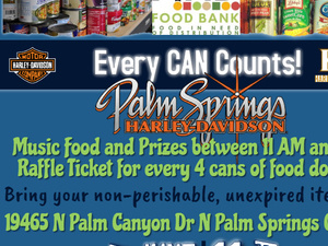 Palm Springs Harley-Davidson Food Drive for the Find Food Bank