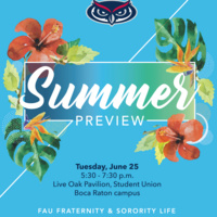 Fraternity and Sorority Summer Preview