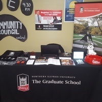 Graduate School Information Table at DeKalb Farmer's Market