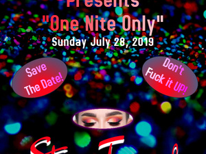 """One Nite Only"" an afternoon of drag & song."