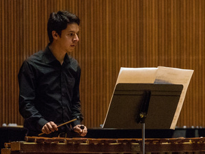 Randall Chaves Camacho performs with Oberlin Sinfonietta