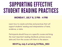 CITRAL Next Steps: Supporting Effective Student Reading Practices