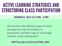 CITRAL Next Steps: Active Learning Strategies and Structuring Class Participation