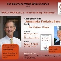 """PEACE WORKS: U.S. Peacebuilding Initiatives"""