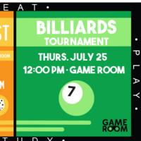Student Union: Billards Tournament