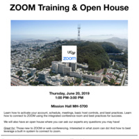 ZOOM Training & Open House