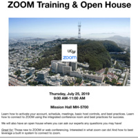 Advanced ZOOM Training & Open House