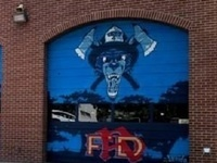 University Themed Mural Unveiling at Fire Station