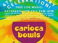 Carioca Bowls' Fourth Anniversary Celebration
