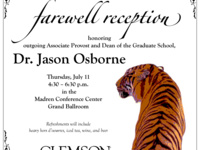 Farewell Reception for Dr. Jason Osborne