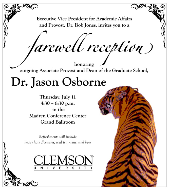 Farewell Reception for Dr. Jason Osborne