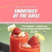 Smoothies at the Grill- Weds, June 26th | Dining Services