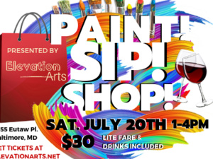 Paint, Sip & Shop!
