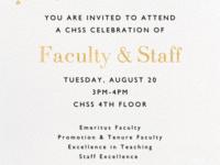 CHSS Faculty & Staff Award Reception