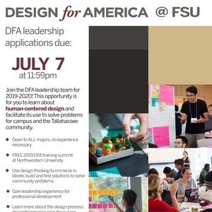 Fsu 2020 Academic Calendar Design For America leadership team application deadline   Florida