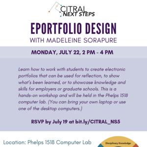 CITRAL Next Steps: EPortfolio Design