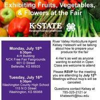 Exhibiting Fruits, Vegetables, & Flowers at the Fair