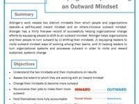 Developing and Implementing an Outward Mindset