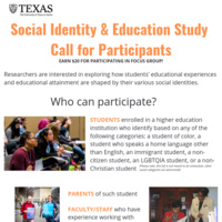 Social Identity & Educational Attainment Study Call for Participants