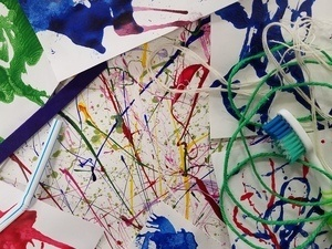 Splatter, Blot, & Blow: Painting without Brushes