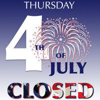 Closed for July 4