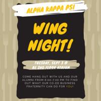 Alpha Kappa Psi Wing Night