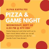 Alpha Kappa Psi Pizza and Game Night