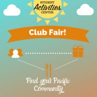 Club Fair featuring Pacific student organizations