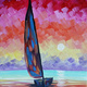 Paint and Sip: Sailing at Twilight painting for ages 21+