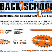 Continuing Education and Workforce Development Back-to-School Event