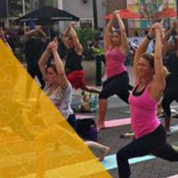 Yoga on the Fountain Plaza