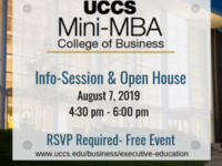 UCCS MINI-MBA INFO SESSION & OPEN HOUSE