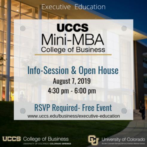 UCCS MINI-MBA INFO SESSION & OPEN HOUSE