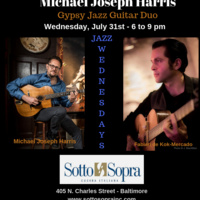 JAZZ WEDNESDAYS - MICHAEL JOSEPH HARRIS GYPSY JAZZ GUITAR DUO