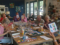 Watercolor collage fun workshop