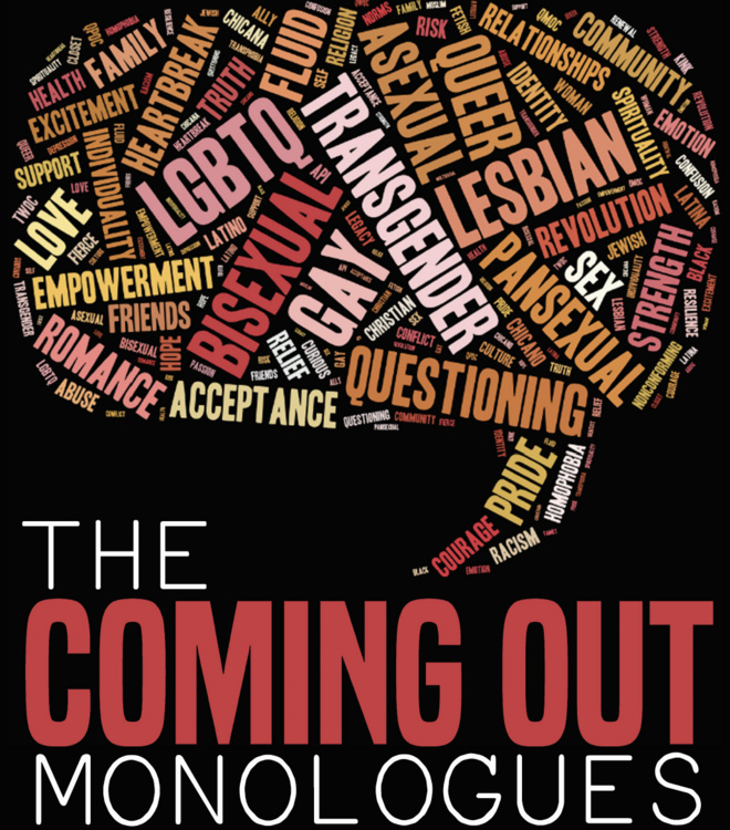 Oct 9, 2019: 4th Annual Coming Out Monologues at Millberry Union Event & Meeting Center